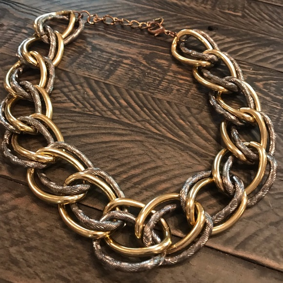 Vintage Jewelry - Bad A** ! Vintage Multi-tone Chain Link Necklace